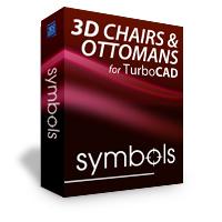 krabice 3D Symboly židlí a křesel