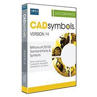krabice 30 miliónů CAD Symbols pro DWG, DXF, 3DS, TCW