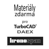 krabice Materiály Kronospan pro TurboCAD/DAEX