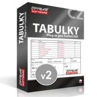 krabice Tabulky 2 pro TurboCAD od ŠPINAR - software