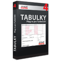 krabice Tabulky 4 pro TurboCAD od ŠPINAR - software