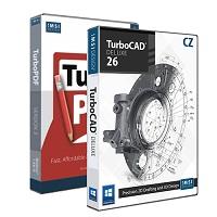 krabice TurboCAD Deluxe 26 CZ + TurboPDF 3 CZ