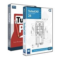 krabice TurboCAD Designer 26 CZ + TurboPDF 3 CZ